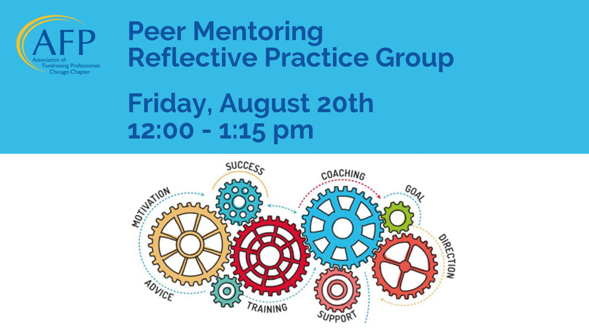 Peer Mentoring Reflective Group Aug 20
